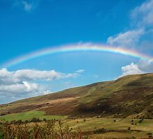Rainbow over the Brecon Beacons by Nick Jenkins