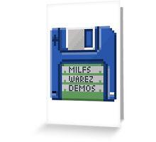 Vintage 3.5 Inch Floppy Disk Greeting Card