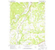 USGS TOPO Map Arkansas AR Mountainburg SW 259168 1969 24000 Photographic Print