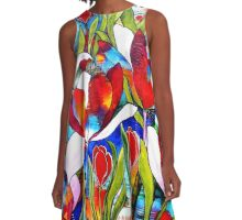 Tulip Festival A-Line Dress