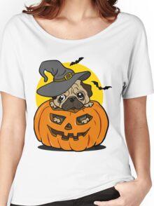 Halloween pug dog Women's Relaxed Fit T-Shirt