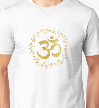 yoga meditation om symbol Unisex T-Shirt
