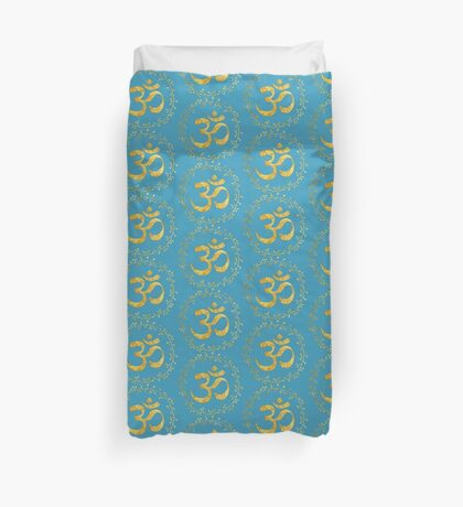 yoga meditation om symbol Duvet Cover