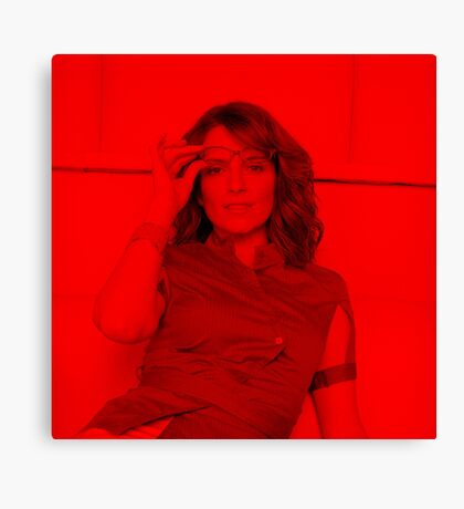 Tina Fey - Celebrity (Square) Canvas Print