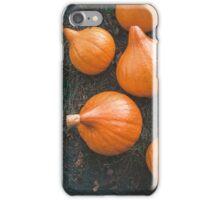 Harvest of local rural farmer. Halloween pumkings. Village. iPhone Case/Skin