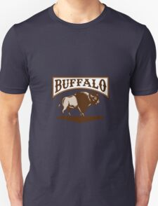 Buffalo American Bison Side Woodcut Unisex T-Shirt