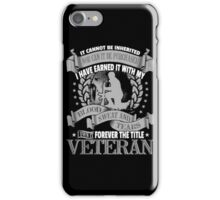 Veteran - Forever The Title iPhone Case/Skin