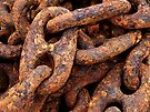 Heavy, Rusty, Crusty Mooring Chain by Kenneth Keifer