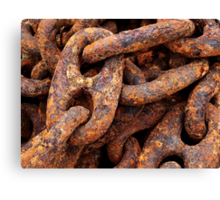 Heavy, Rusty, Crusty Mooring Chain Canvas Print