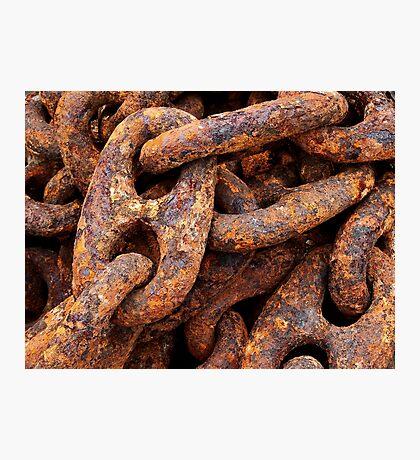 Heavy, Rusty, Crusty Mooring Chain Photographic Print