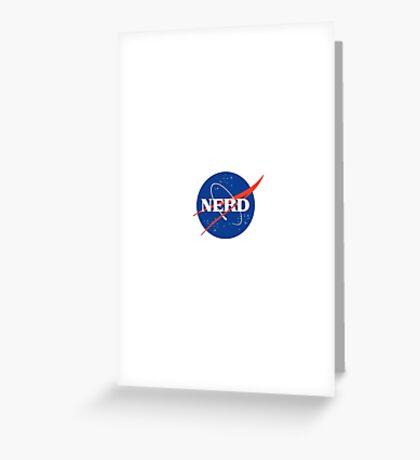 Nerd Logo Greeting Card