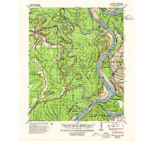 USGS TOPO Map Arkansas AR Big Island 259999 1939 62500 Photographic Print