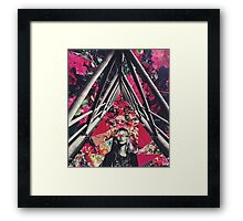 Fuchsia Floral Kate Collage Framed Print