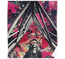 Fuchsia Floral Kate Collage Poster