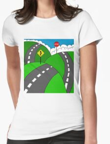Hit the road Womens Fitted T-Shirt