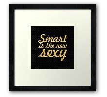 Smart... Inspirational Quote (Square) Framed Print