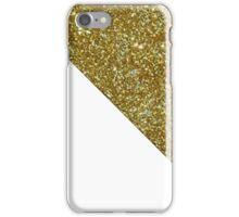 White Gold Glitter iPhone Case/Skin