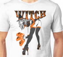Halloween Witch Pin-up Unisex T-Shirt