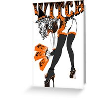 Halloween Witch Pin-up Greeting Card