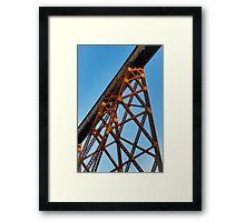 Towering Trestle Framed Print