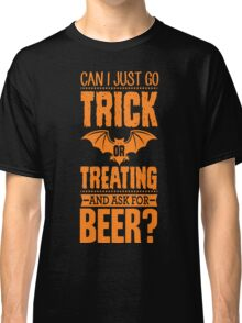 Trick Or Treat For Beer Halloween Pumpkin Adults  T-Shirt Classic T-Shirt