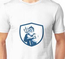 Triton Trident Arms Crossed Crest Retro Unisex T-Shirt