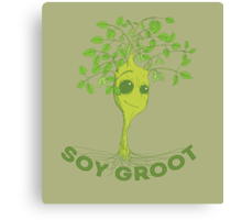 Soy Groot Canvas Print