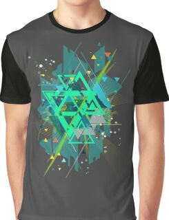 Digital Abstract Geometric Supreme Blast Graphic T-Shirt