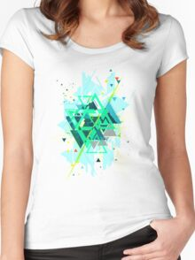 Digital Abstract Geometric Supreme Blast Women's Fitted Scoop T-Shirt
