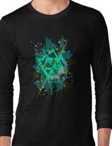 Digital Abstract Geometric Supreme Blast Long Sleeve T-Shirt