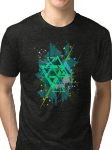Digital Abstract Geometric Supreme Blast Tri-blend T-Shirt