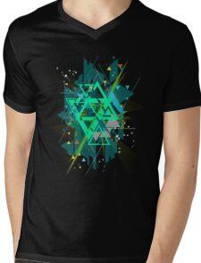 Digital Abstract Geometric Supreme Blast Mens V-Neck T-Shirt