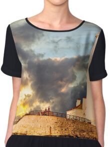 St Mary's Lighthouse Chiffon Top