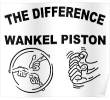 The Difference Wankel vs Piston Rotary Engine Mazda Poster