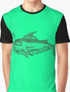 Whale fish - Medieval Bestiary Graphic T-Shirt