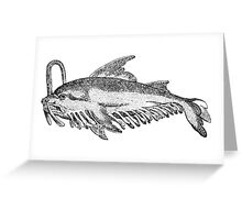 Whale fish - Medieval Bestiary Greeting Card