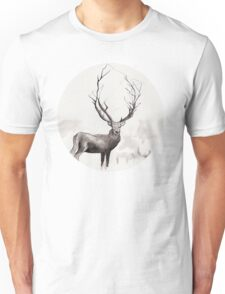 Art Illustration - Deer in the fog Unisex T-Shirt