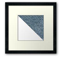Silver White Glitter Framed Print