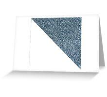 Silver White Glitter Greeting Card