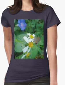 Banded Hairstreak in Spanish Needles Womens Fitted T-Shirt