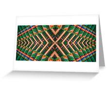 Korean Pagoda multicolored abstract 2 Greeting Card
