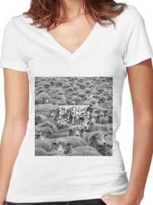 $uicideboy$ grey sheep 2  Women's Fitted V-Neck T-Shirt