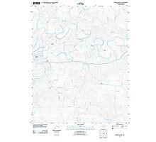 USGS TOPO Map Arkansas AR Evening Shade 20110725 TM Photographic Print