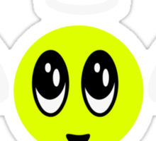 Angel Smiley (yellow) Sticker