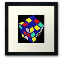 Rubik's Cube Pop Art Framed Print