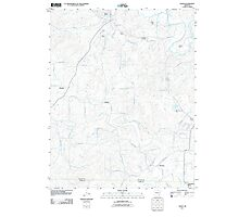 USGS TOPO Map Arkansas AR Salem 20110725 TM Photographic Print