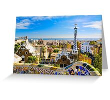 Colorful Barcelona Greeting Card