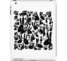 Black and White Rabbits: Different Perspectives iPad Case/Skin