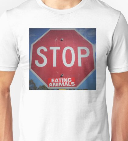 Stop Eating Animals Unisex T-Shirt