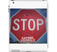 Stop Eating Animals iPad Case/Skin